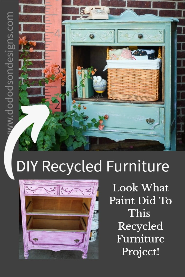 Look What Paint Did To A Recycled Furniture Project! Before & After