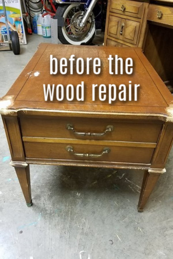 The table is gonna needs some major wood furniture repair.