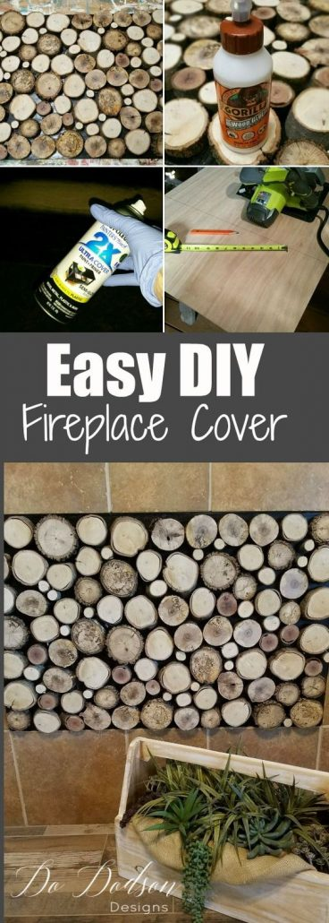 How to make an easy DIY Fireplace Cover