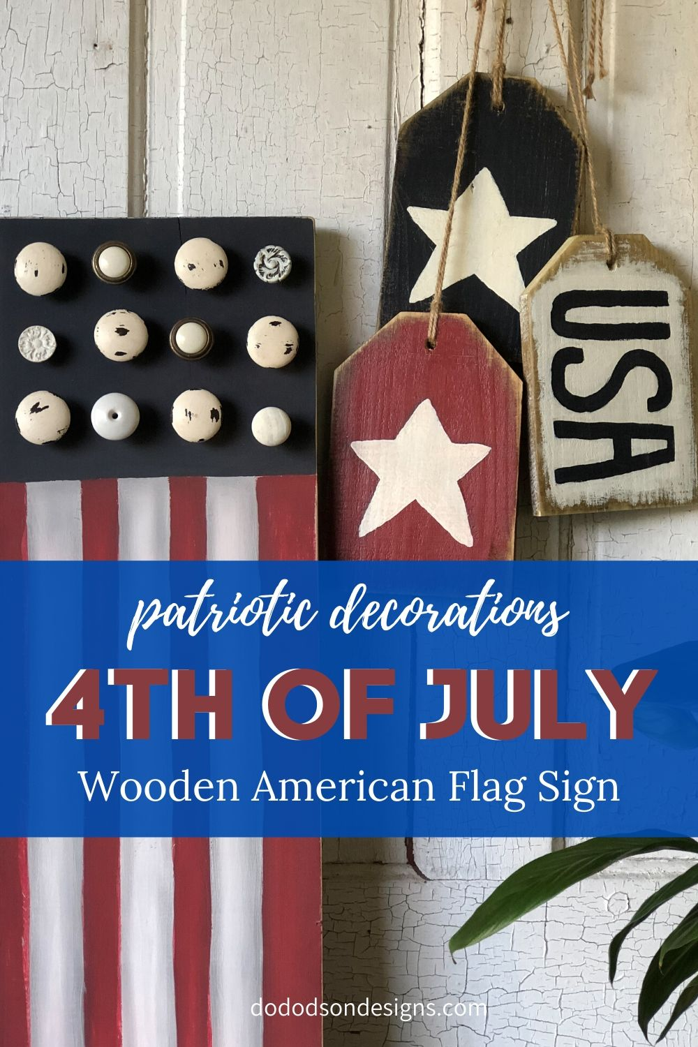 Wooden American Flag | DIY 4th Of July Craft