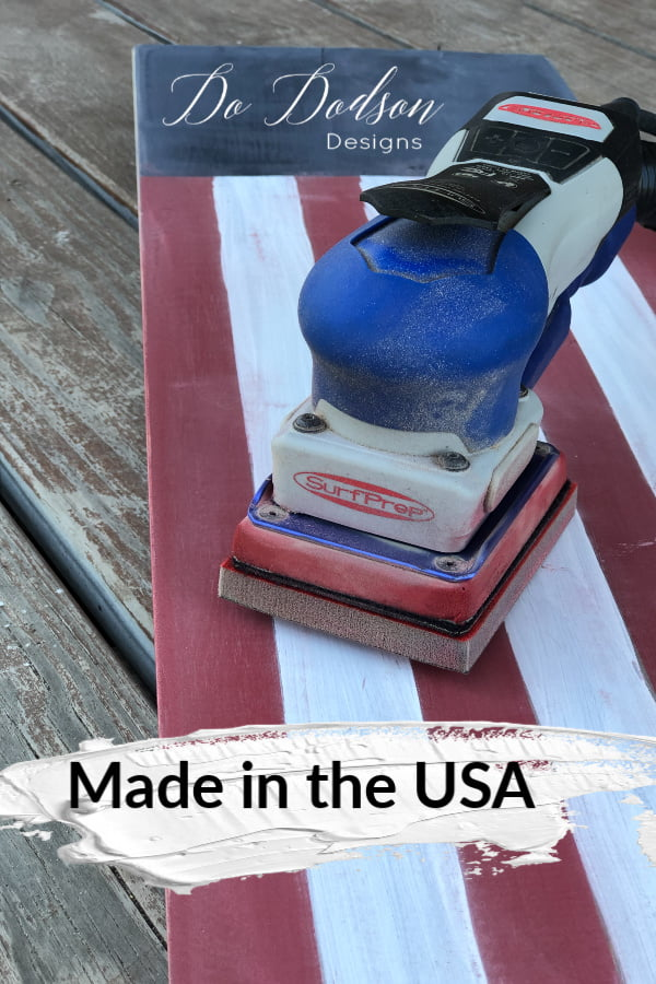 Made in the USA Wooden American Flag