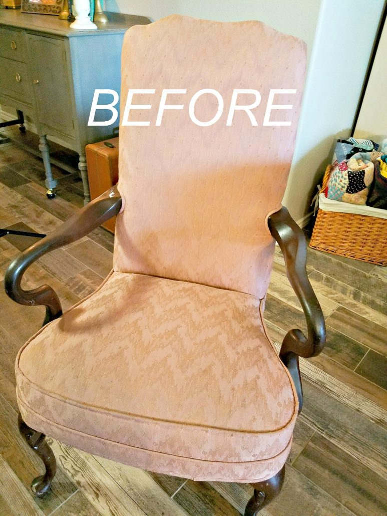 Yes, you can paint fabric on old chairs. #dododsondesigns #paintfabric #paintedfabric #fabricpaint #paintedfurniture