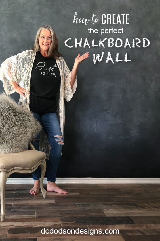 How To Make A Chalkboard Wall In Your Home