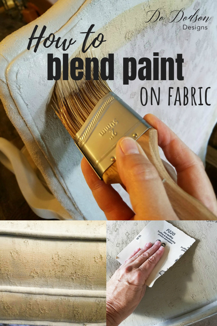 How to paint fabric and blend the paint for a seamless look.