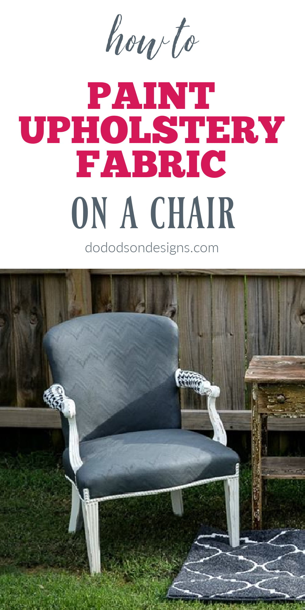 How To Paint Fabric On A Chair The Easy Way
