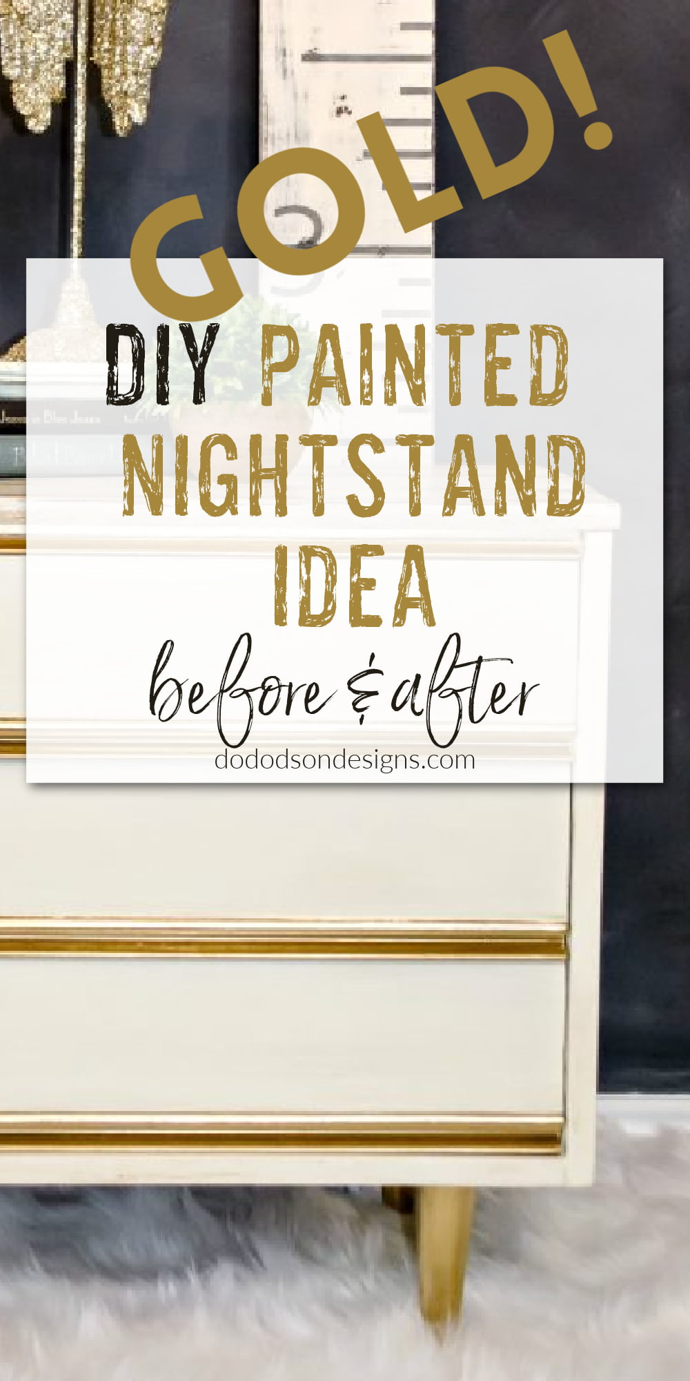 Dixie Nightstand Painted Furniture Makeover - Before And After