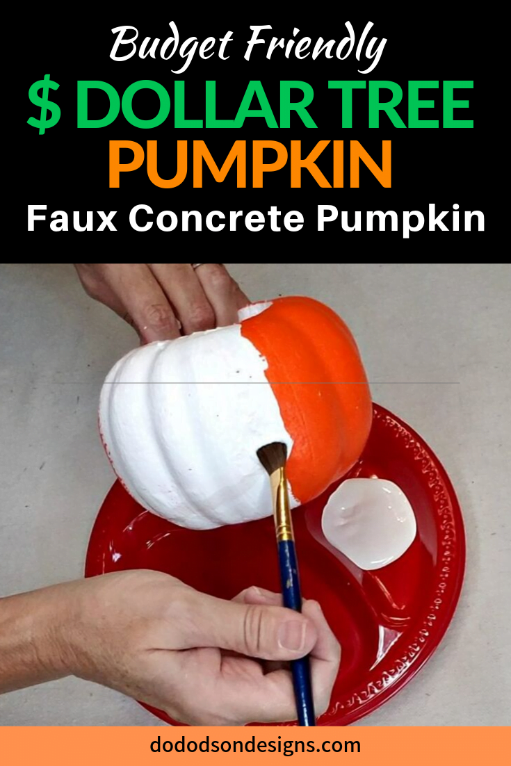 DIY Faux Concrete Finish On A Dollar Tree Pumpkin