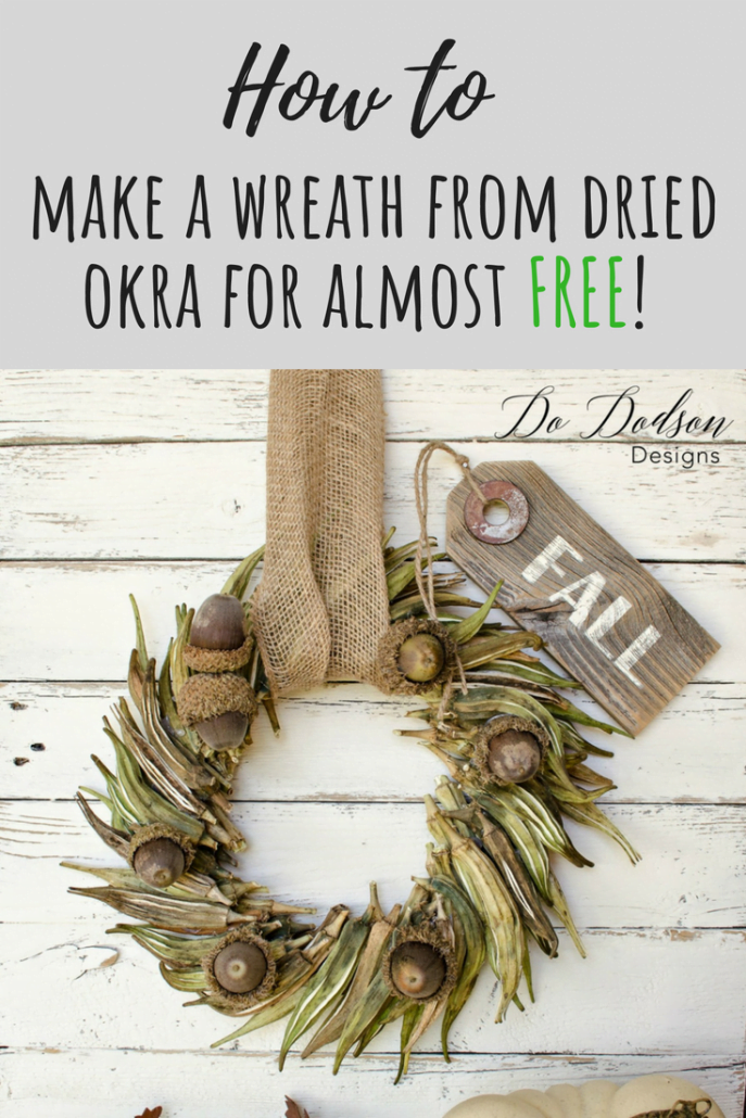 I used dried okra to make a Fall Wreath. Here's What Happened!