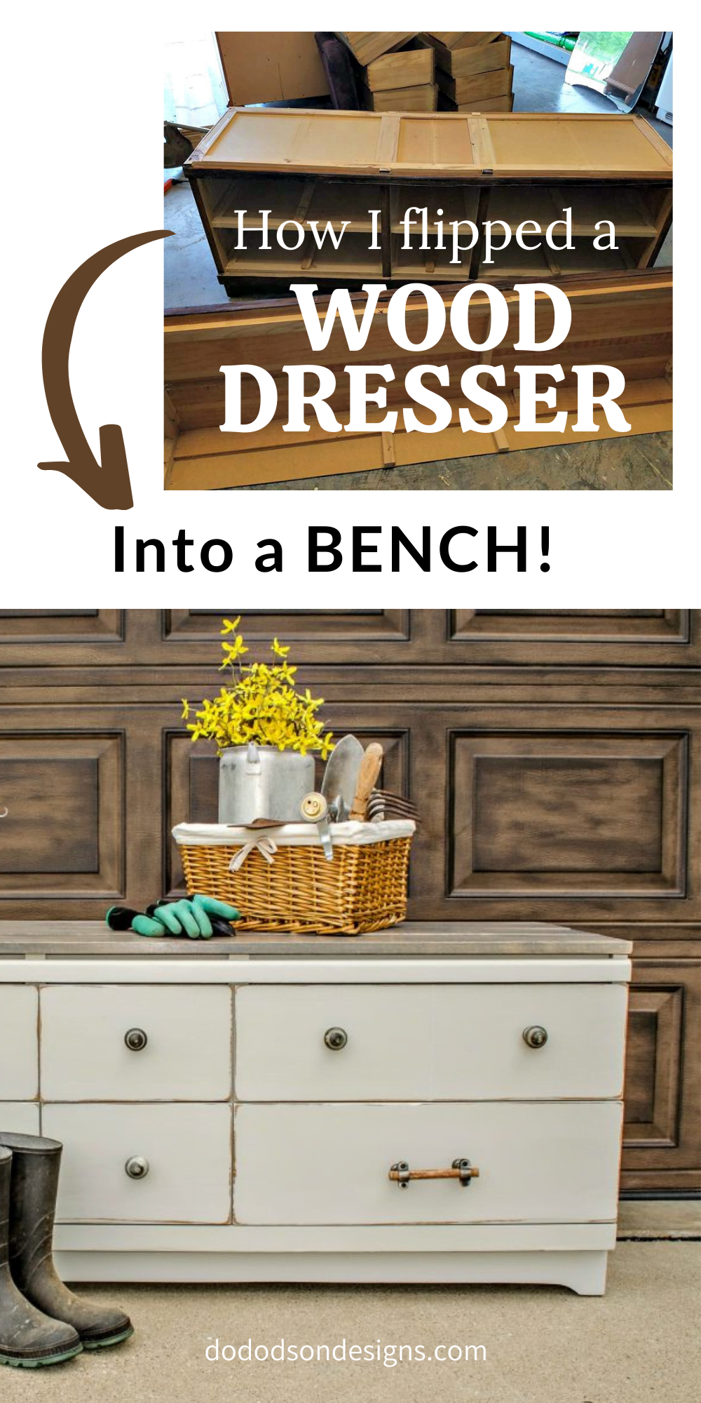 How To Make A Wood Dresser Into A Bench
