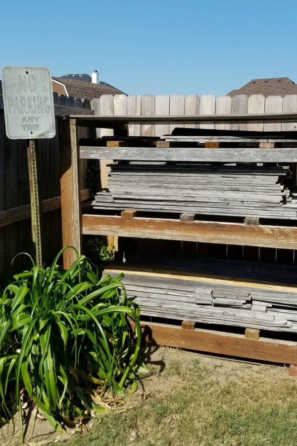I'm making wooden pumpkins with these salvaged fence pickets.