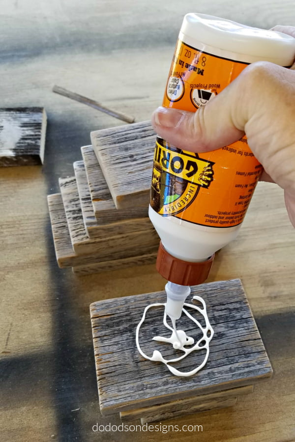 Secure the wood pieces together with wood glue.
