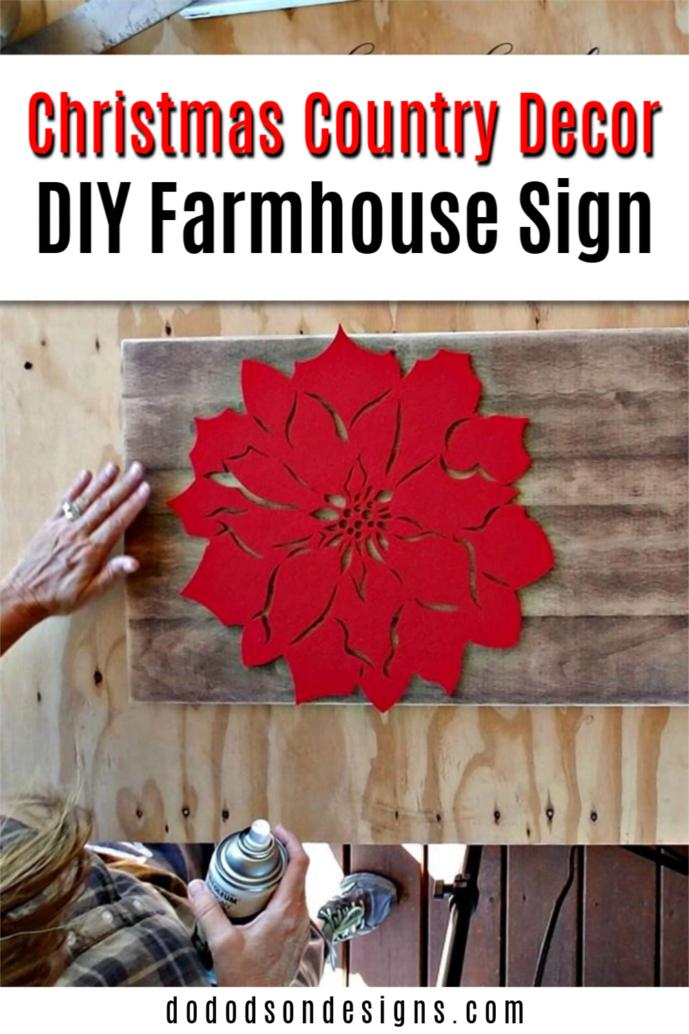 How to Make DIY Christmas Country Crafts - Stencil Hack