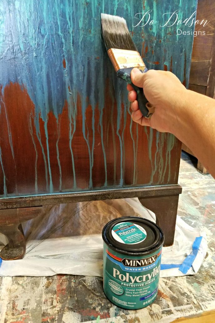 Using a sealer over my chalk painted master piece will protect it for years to come.