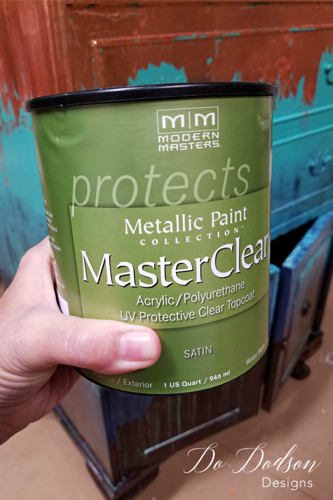 I use a clear coat to seal copper leaf after it's applied.