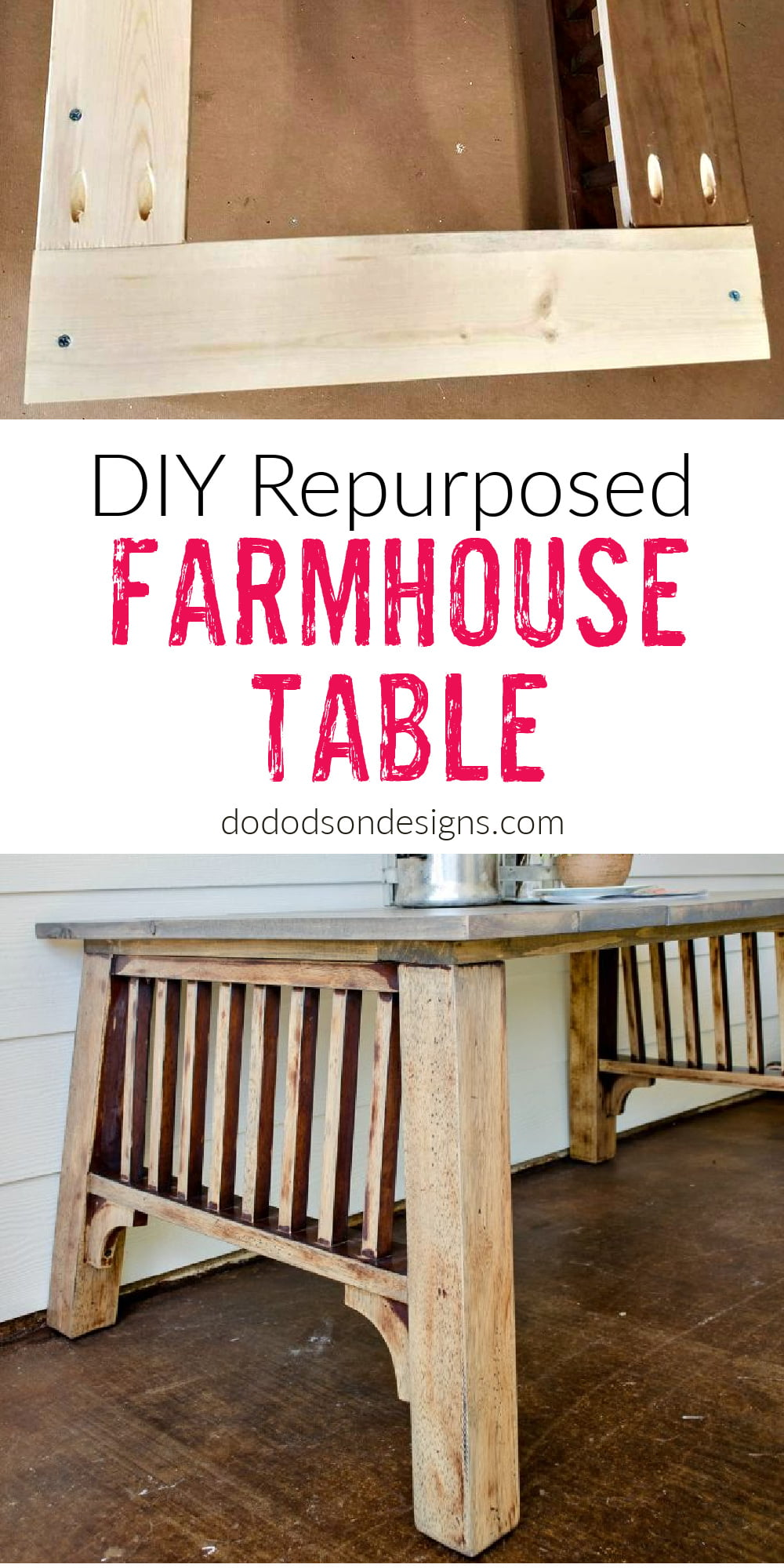 How I Made A DIY Farmhouse Table From Repurposed Curbside Junk