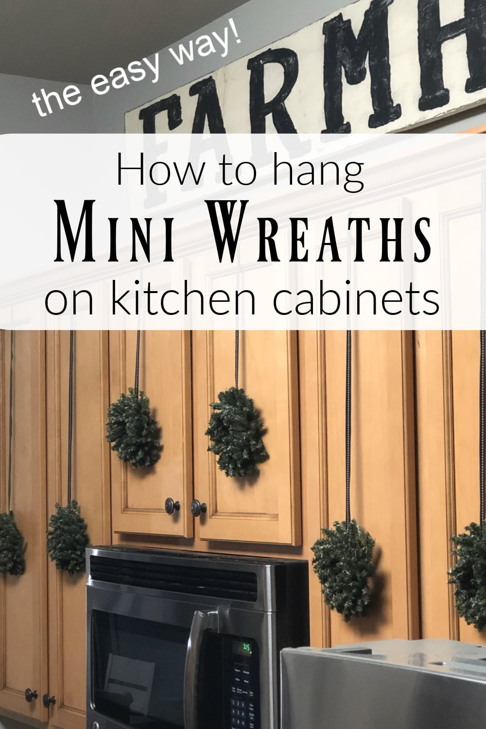Eye Catching Mini Wreaths That Will Transform Your Holiday Kitchen Cabinets