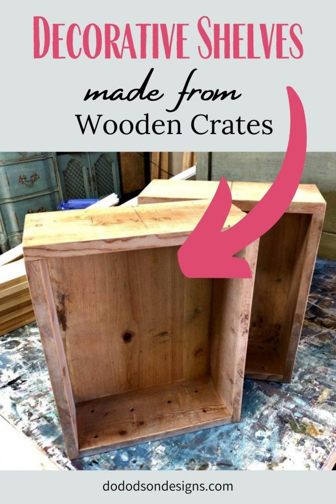 The simplest DIY project ever! I made these decorative shelves from old wooden crates.