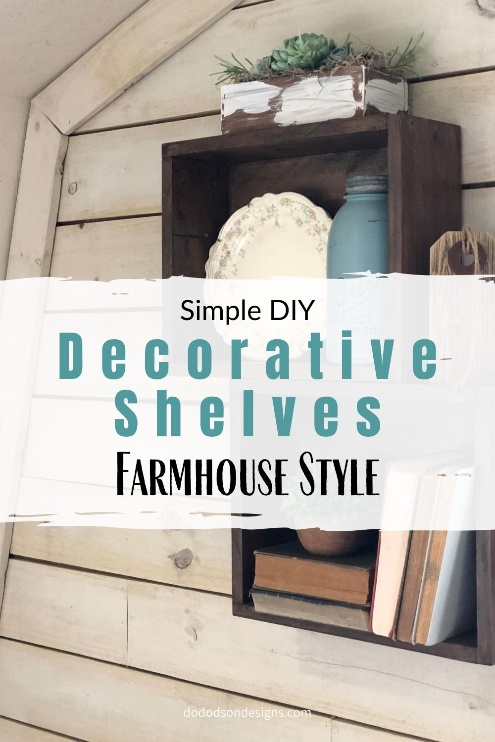 How To Make Simple Decorative Shelves With Wooden Crates