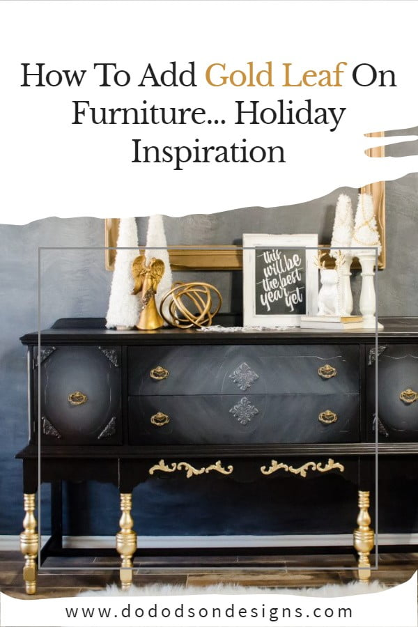 How To Add Bougie Gold Leaf On Furniture