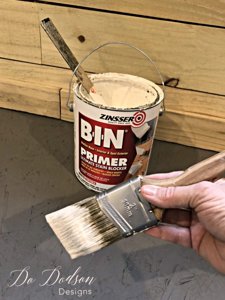 I started with priming the trim in the new office. This stuff is GOLD!