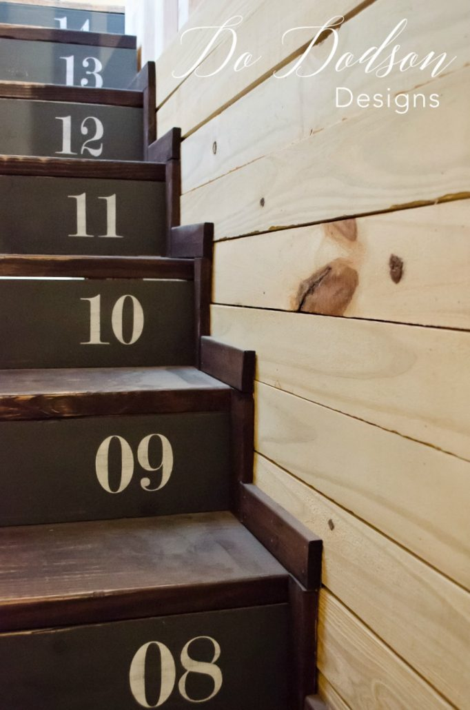 I love numbers on stairs. Reminds me of when I was a little girl and counted each step. New office stairway.