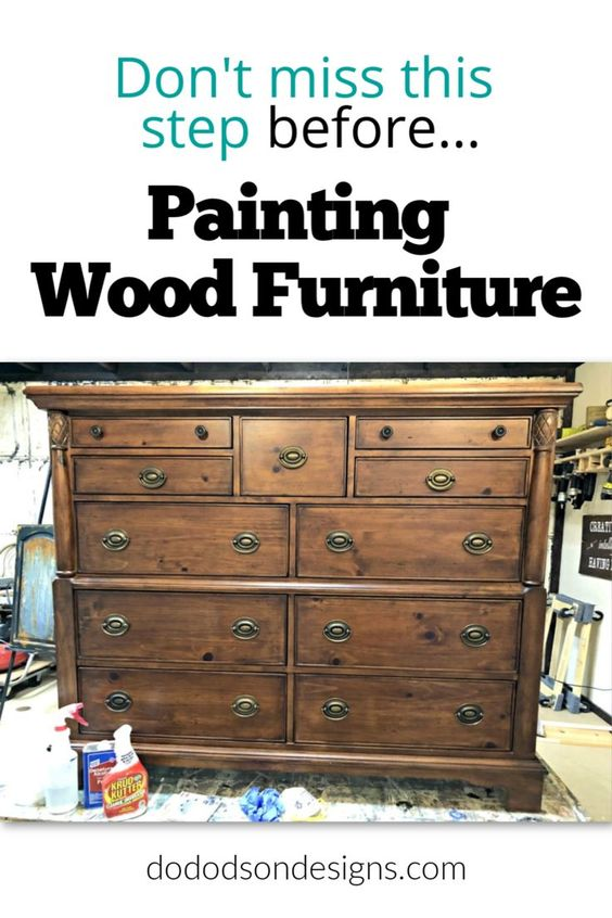 How To Prep Before Painting Wood Furniture