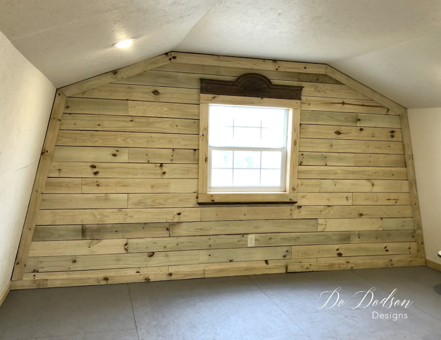 How to whitewash wood walls using diluted latex paint.