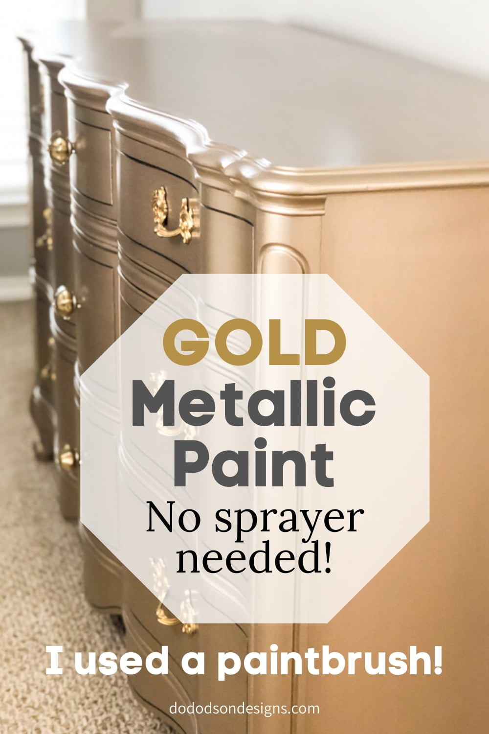 Metallic Paint On Furniture You Can Apply With A Paintbrush