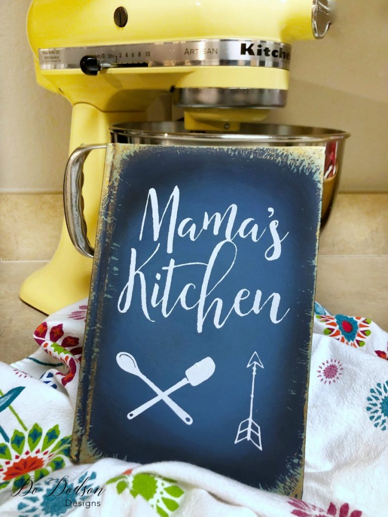 Mama's Kitchen DIY Painted Book Project