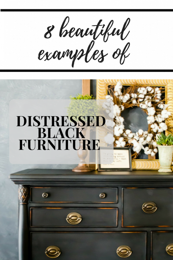 Distressed Black Furniture #dododsondesigns#distressedblackfurniture #distressedfurniture #blackfurniture