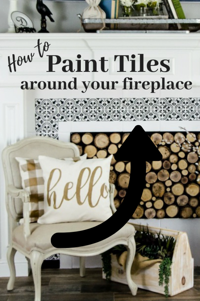 Now that you know how to paint tiles around your fireplace, what's stopping ya?