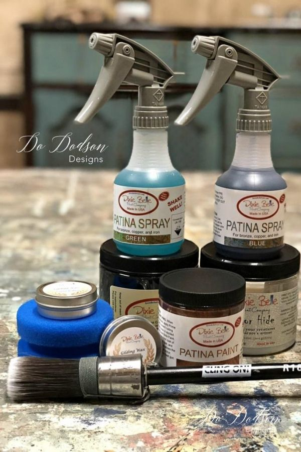 THIS is the family of patina finishes. A great look for all your painted projects. Get creative and have fun!