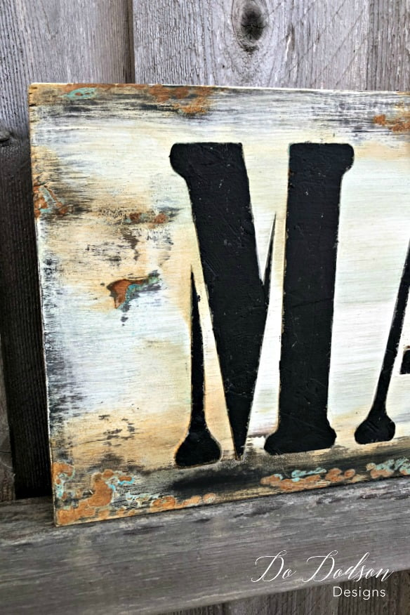 Today I'm making a Farmhouse MARKET wood sign that looks like metal. I have new products to show you. Join me!