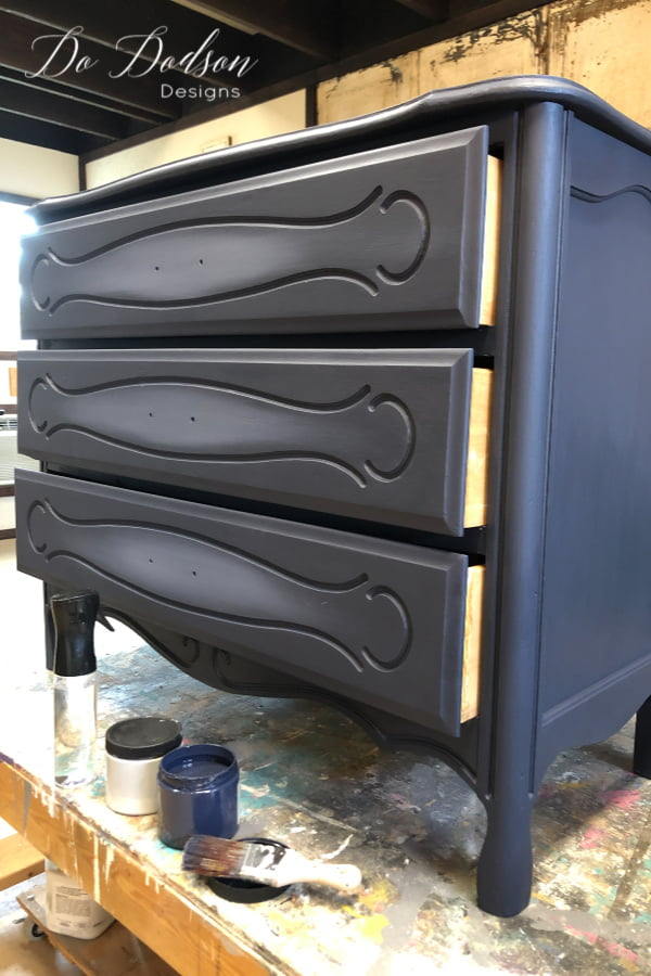 Blending paint on the front of these drawers was the perfect subtle highlights that I was looking for. It a simple technique that anyone can master.