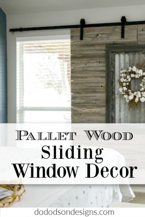 Pallet Wood Sliding Window Decor On A Budget