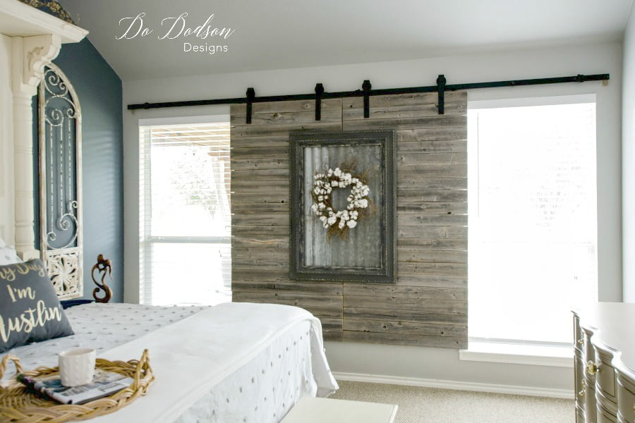 How To Create A Unique Look With Sliding Barn Door Window Decor #dododsondesigns #windowdecor #slidingbarndoors #interiorbarndoors #interiorslidingbarndoors