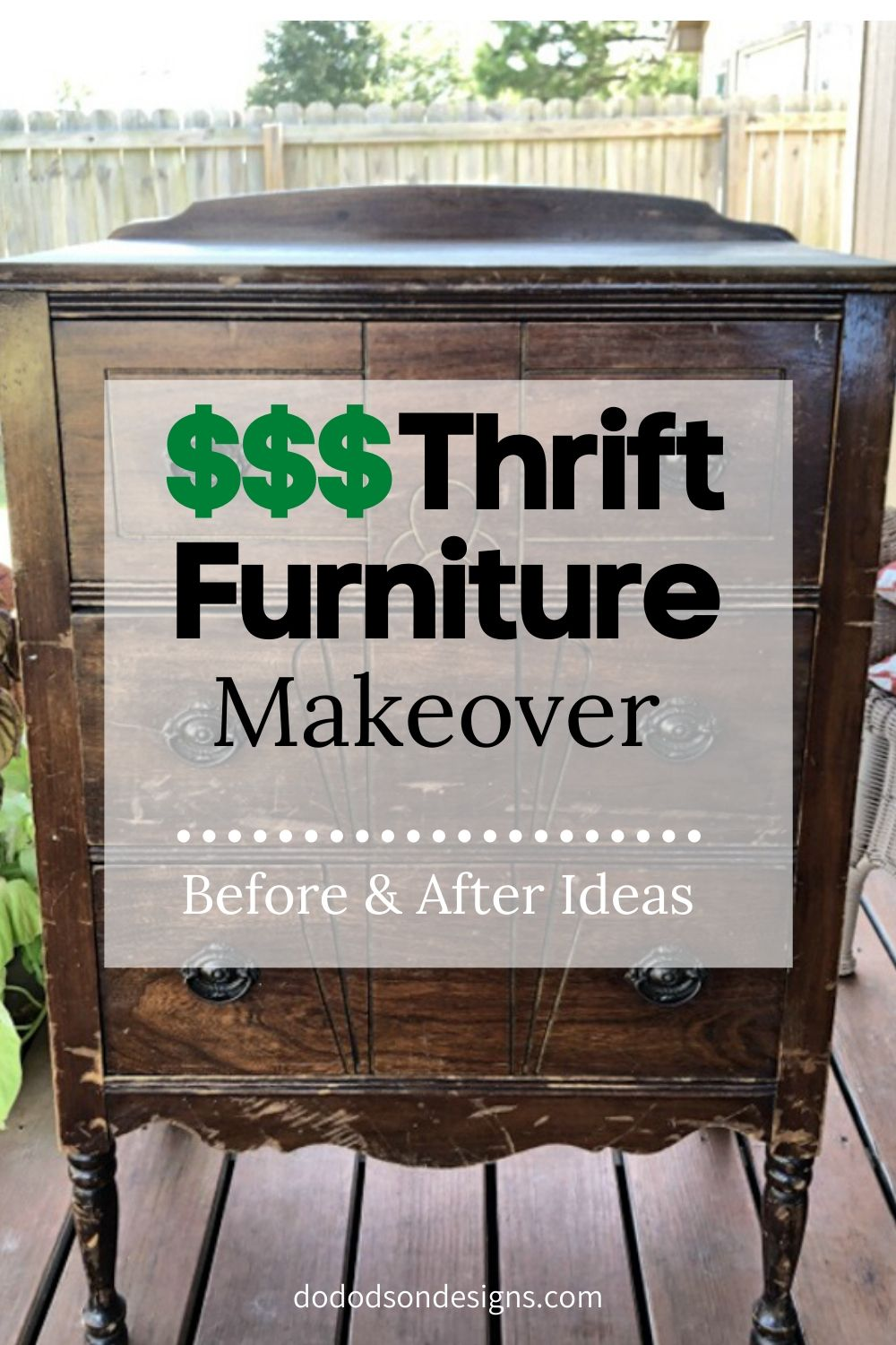 Easy Thrift Furniture Makeover That Will Save You Money $$$