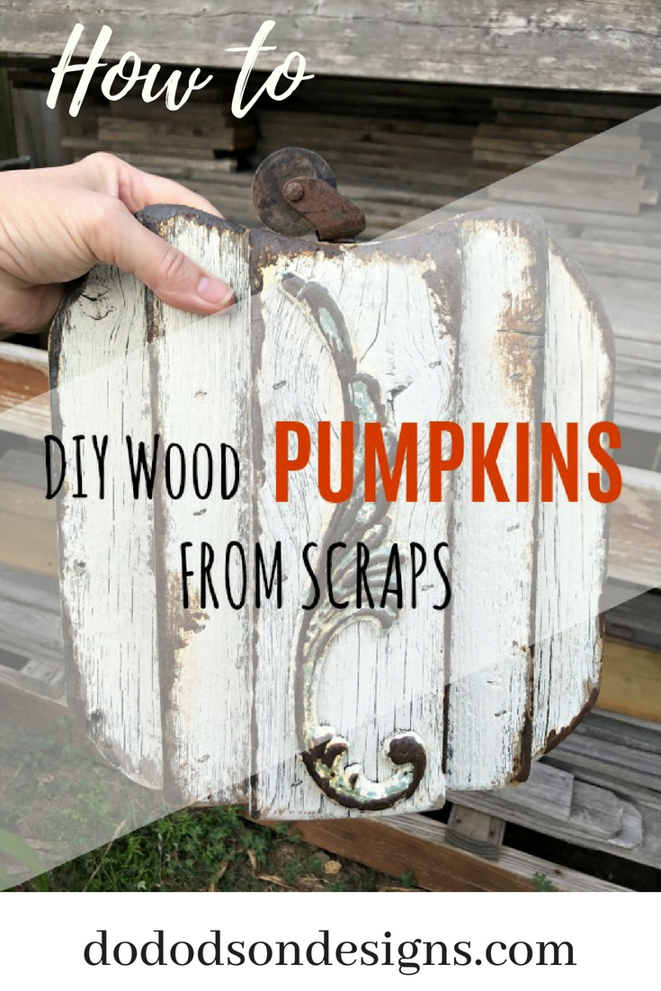 Easy DIY Pallet Wood Pumpkins For Fall