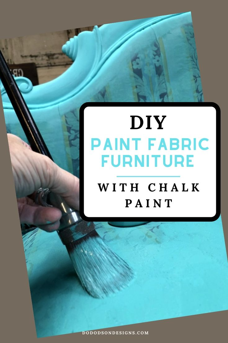 If You Think Painting Fabric Furniture Is Easy, You Are Right!