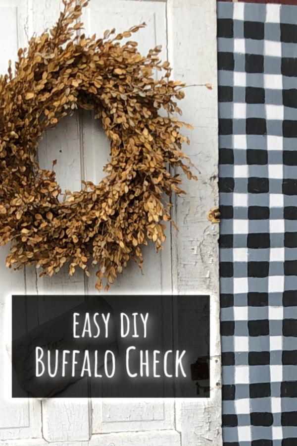 Painted buffalo check pattern for Fall decor.