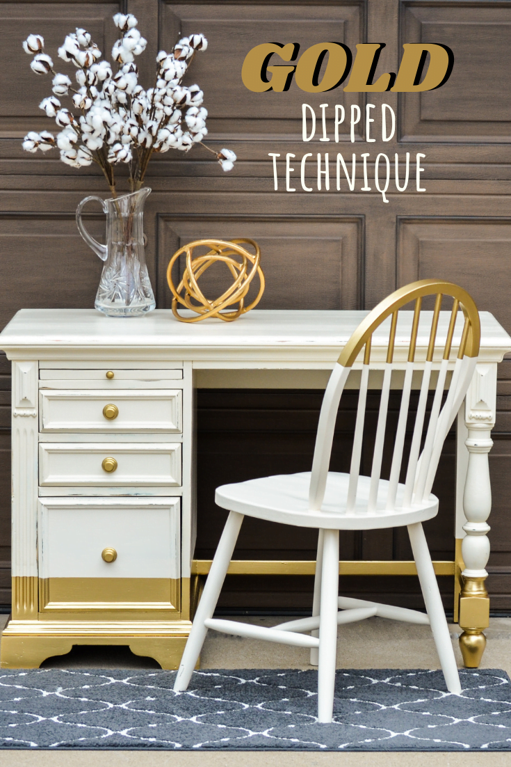 How To Paint Amazing GOLD Dipped Furniture