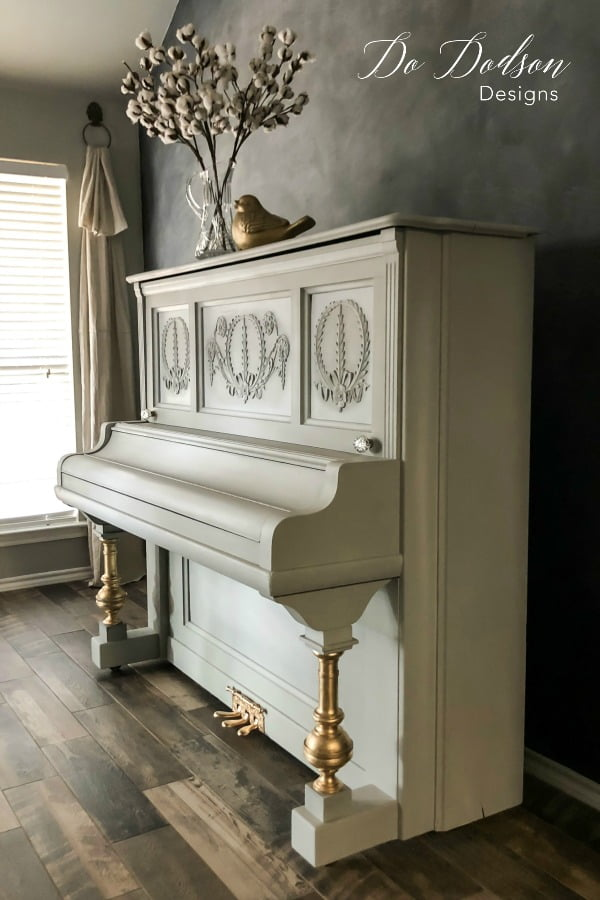 Learning how to paint a piano isn't hard. I used grey chalk paint on this HUGE DIY project and accomplished it in one day.
