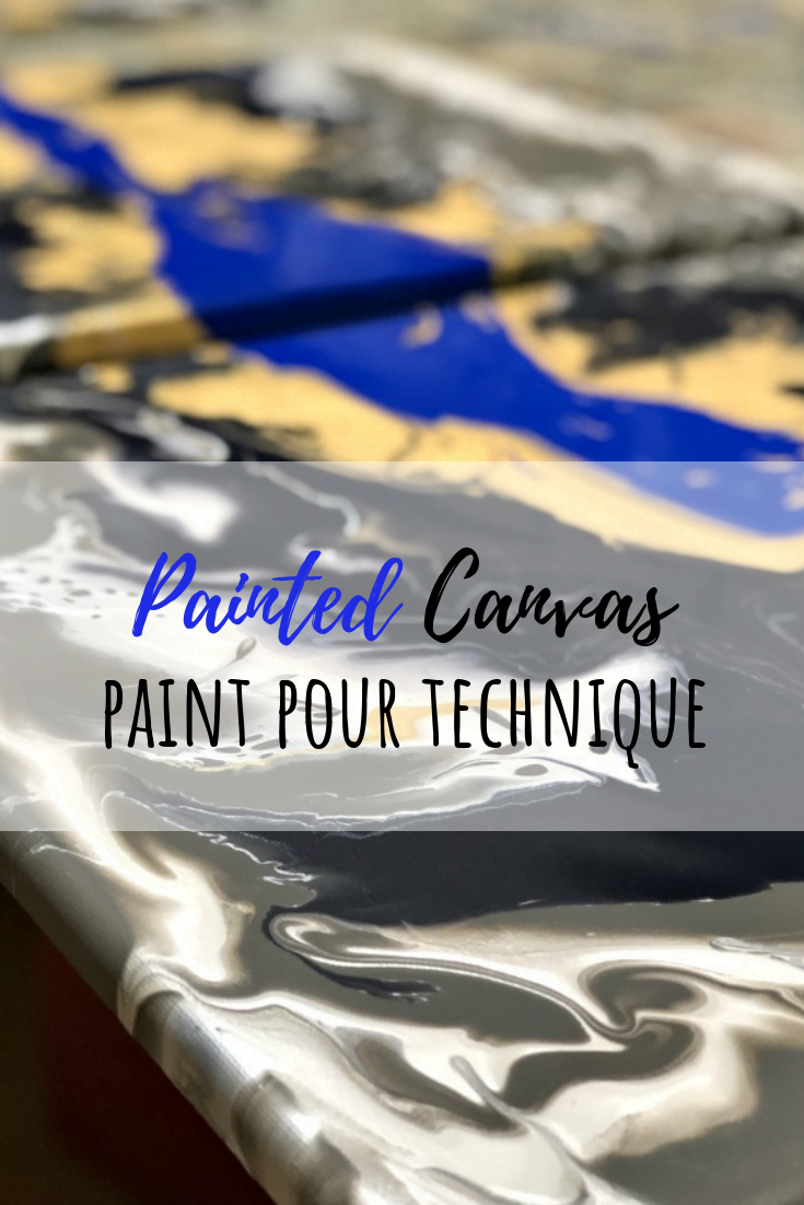 Easy Modern Painted Canvas | Paint Pouring Art