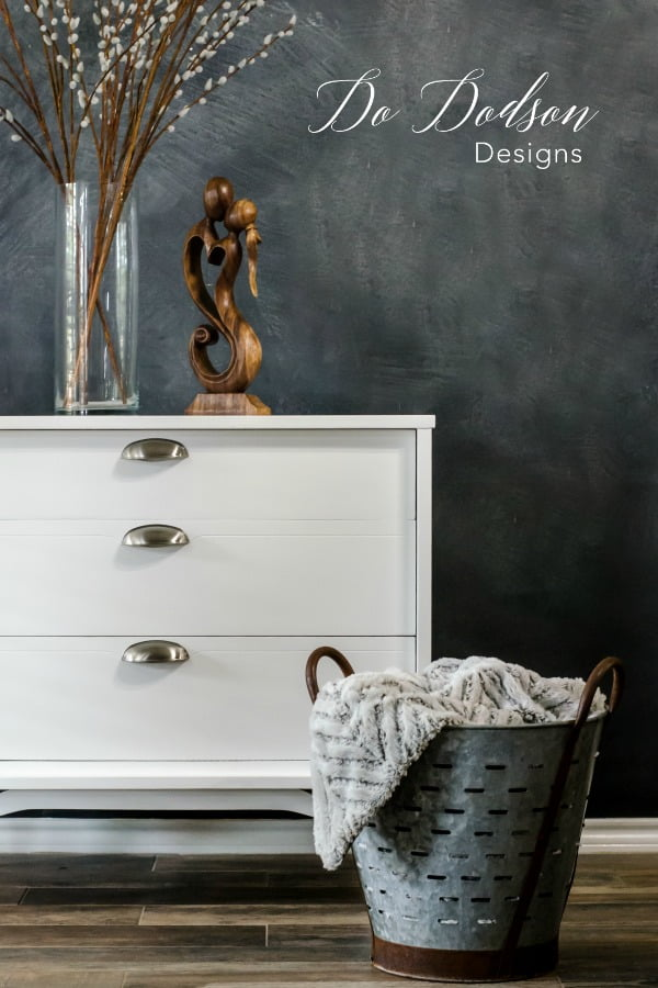 Neutrals colors add a bit of sophistication. Consider white for your next furniture painting project.