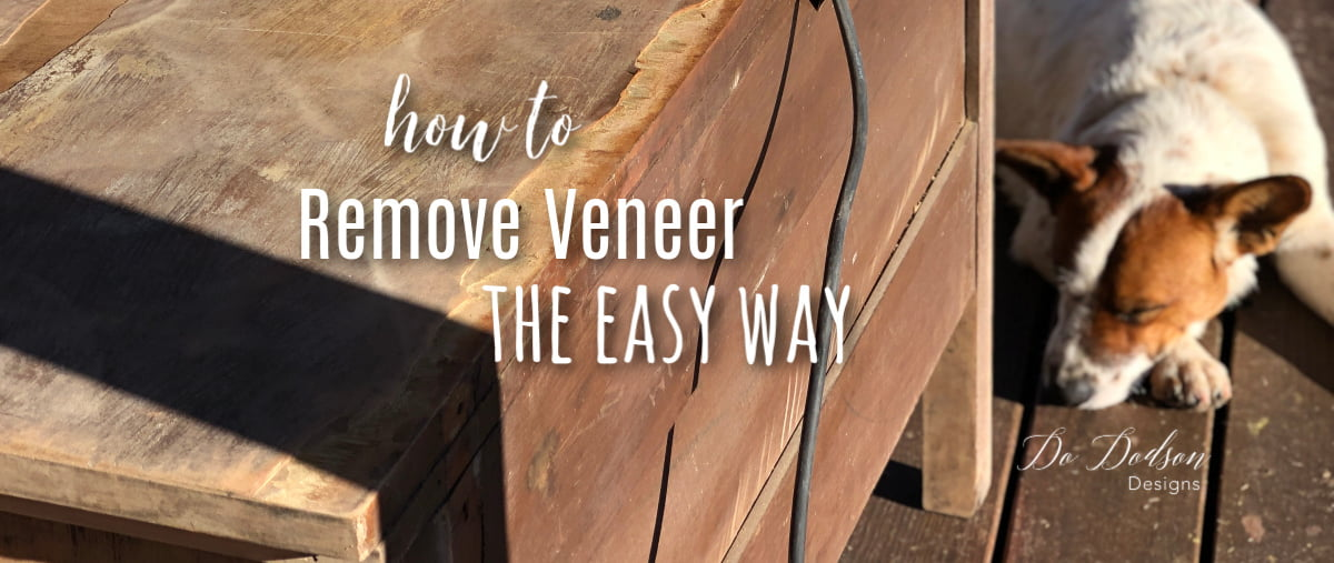 How to remove veneer the easy way.