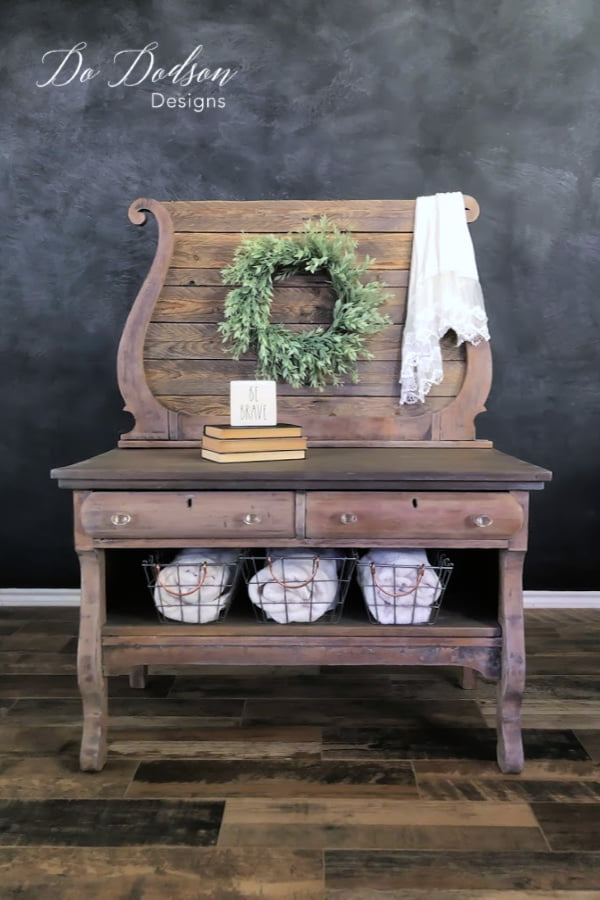 Try adding white wax instead of that messy whitewash on wood furniture for a soft dreamy look.