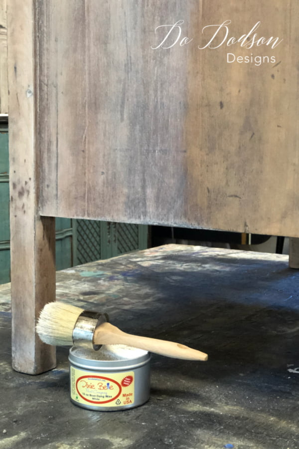 How to apply white wax for a whitewashed look on raw wood.