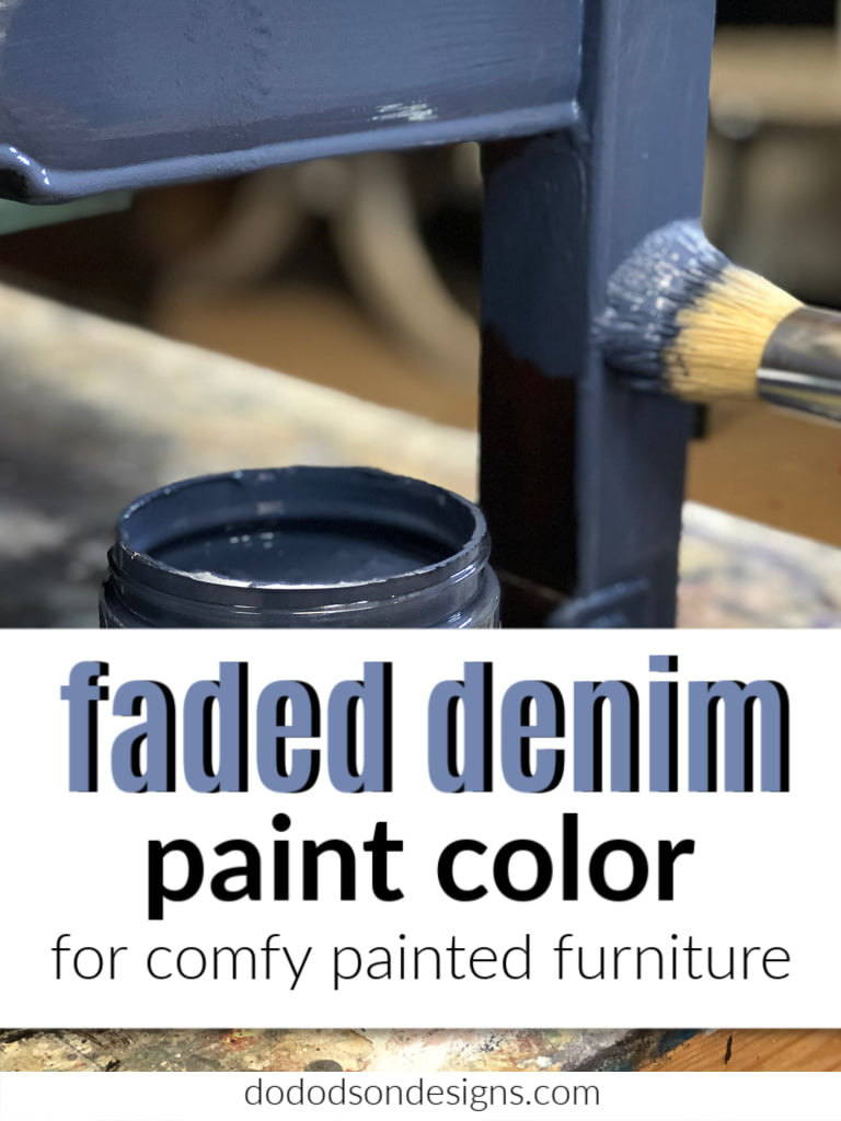 Faded Denim Painted Furniture | Amazingly Easy How-To