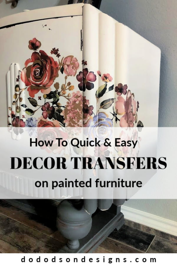 Decor transfers are a quick and easy way to update your Grandma\'s painted furniture and preserve her memory with a style you love.