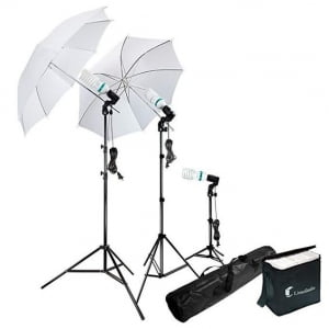 Another crucial must have in my photography equipment are these umbrella lights. A well lit photo is everything to a blogger.